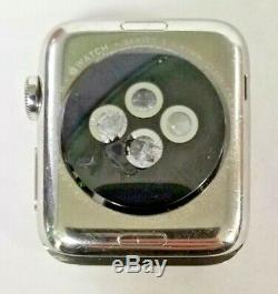 Apple Watch Series 3 42mm Cellular 16GB Chrome Watch Only (Cracked Back)