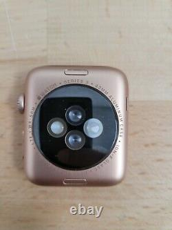 Apple Watch Series 3 42mm Gold Aluminum Cellular iCloud for Parts Good LCD