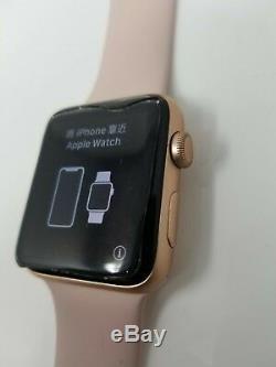 Apple Watch Series 3 42mm Gold Aluminum Pink Sport Band (gps) Broken Screen