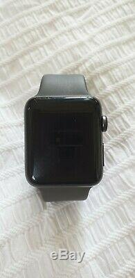 Apple Watch Series 3 42mm Space Grey Case Grey Strap BOXED Not fully functional