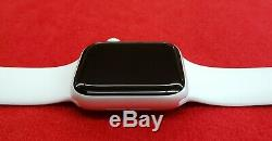 Apple Watch Series 4 44 mm Aluminum Case with White Sport Band, BAD ESN, A1976