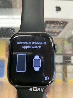 Apple Watch Series 4 44mm Space Gray Aluminum Case With Black Sport Band LOCKED