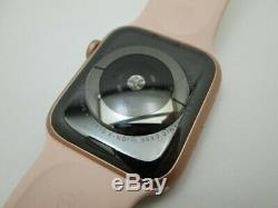 Apple Watch Series 4 A1976 GPS 44mm Rose Gold Smartwatch S/M Pink Band