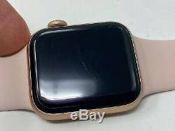 Apple Watch Series 4 Cellular Gold Sport 40mm with Pink Sport Please Read