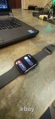 Apple Watch Series 5, 44mm LTE, Space Gray With Black Band- Excellent- IMEI issue