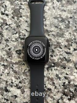 Apple Watch Series 5 44mm Space Gray Aluminium Case with Black Sport Band S/M
