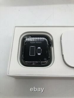 Apple Watch Series 5 44mm Space Gray Aluminum Case Black Band A2093 for parts