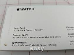 Apple Watch Series 5 44mm Space Gray Case Black Band (MWVF2LL/A) READ