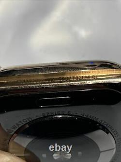 Apple Watch Series 5 GPS Cellular 44mm Gold Stainless Steel Case IC LOCK (Read)