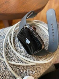 Apple Watch Series 5 GPS Cellular 44mm Space Gray Aluminum Case with Black Band