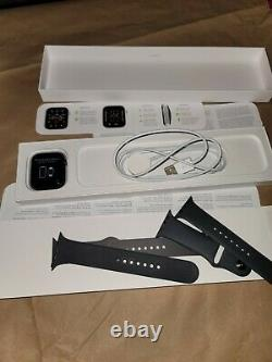 Apple Watch Series 6 Space Gray Sport 44mm with Black Sport IC LOCKED Parts Only