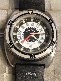 Aquadive Rotary Vintage Diver Watch Working Depth Gauge Watch Not Working
