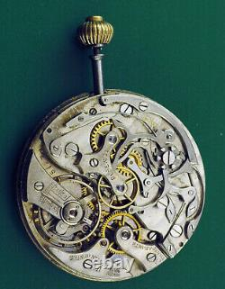 Around 1900 High Grade Chronograph Complete Movement with original Dial ASIS