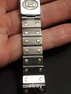 Authentic Cartier Santos Two Tone 18k/Steel Watch Band-Only, for parts