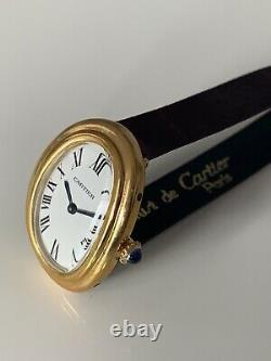 Authentic demo/dummy cartier watch gold plated for Parts Or display