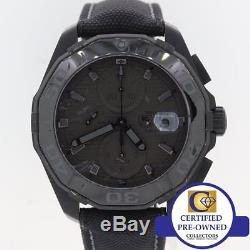 BROKEN Tag Heuer Aquaracer CAY218B Phantom Black Calibre 16 Chronograph Watch M8