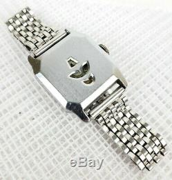 Beautiful Vintage Gents Art Deco Jump Hour Chrome Plate Watch