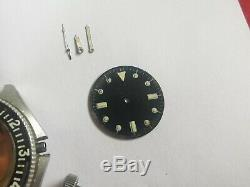 Benrus TYPE 1 I Diver Military Watch For Parts Hands Crown Case Crystal Bezel