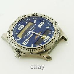 Breitling Aerospace E75362 Digital/analog Blue Dial Watch Head For Parts/repairs