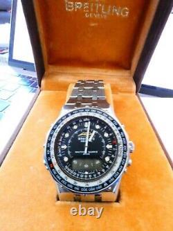 Breitling Navitimer 2300 Jupiter Lcd not working mit box Watch FOR REPAIR