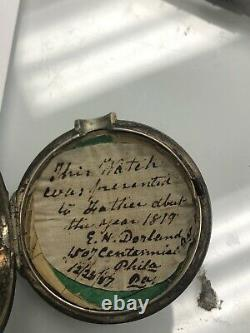 Bullingford Liverpool Silver Fusee Pocket Watch Grams 18s Not Working Rare 1819