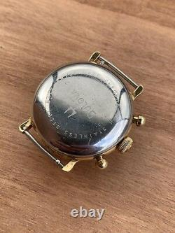 Bulova Chronograph Movement Valjoux 7765 Not Working For Parts Vintage Watch