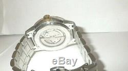 Bulova Men's 98A230 Automatic Two-Tone Stainless Steel Watch / Not Working AS IS