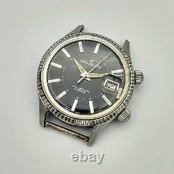 CITIZEN Alarm Date Para 40 Meter 21J Watch RUNNING, Alarm Hour Hand MISSING