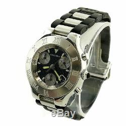 Cartier Must 21 Chronoscaph 2424 Textured Gray Dial S. S. Watch For Parts/repairs
