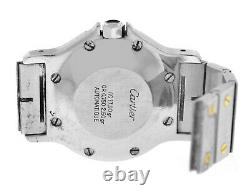 Cartier Santos Octagon 18K Yellow Gold Steel Automatic 30MM Watch Broken