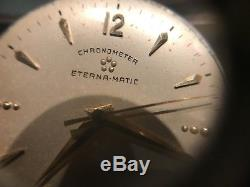 Chronometer Eterna-Matic Watch Rare For Parts Not Working
