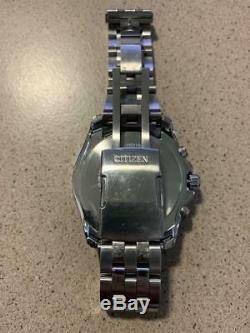 Citizen Eco-Drive AT9030-80L Men's 44mm World Time Atomic Watch- BROKEN CLASP