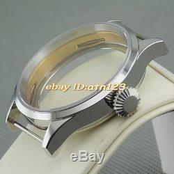 Corgeu 43mm watch case fit ST36 ETA 6497 6498 MOVEMENT P498