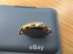 Dreffa Swiss Chronograph watch, calValjoux 92, 18 k gold pl. For parts, repair