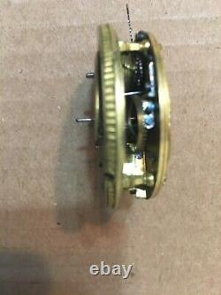 Early Antique Verge Fusee Pocket Watch Movement Filagree Decoration Parts