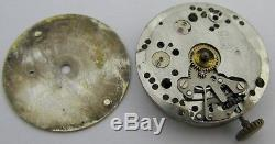 Early Tudor 59 Movement watch movement & dial for parts