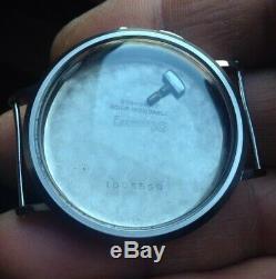 Eberhard Pre Extra Fort Cassa Acciaio Pulsante a Slitta Sliding Button Case