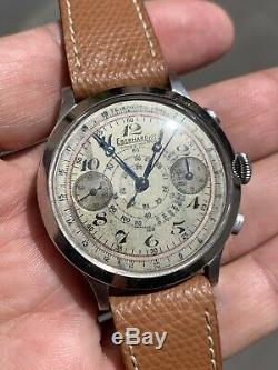 Eberhard Pre Extra Fort Chronograph 16000 Original Dial Watch Not Working