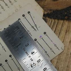 Extra Fine Vintage Pocket Watch Carded NOS Hands Parts for Watchmakers (10b)