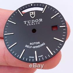FIT ETA 2834 / 2836 Movement 39mm watch case kit for fix parts black