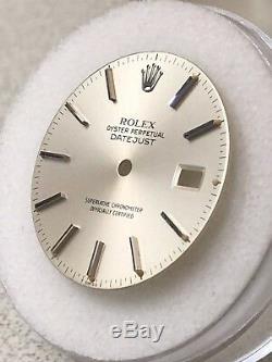 Factory Rolex Men Datejust Silver Stick Marker Dial Only 16014/16030/16234/16000