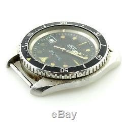 Favre Bulle 19003 Black Dial 844 Diver Watch Head For Parts Or Repairs