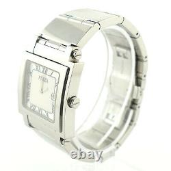 Fendi Orologi White Dial Stainless Steel Ladies Watch For Parts Or Repairs