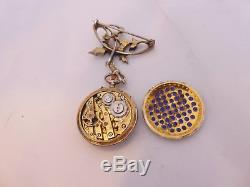 Fine Victorian Art Nouveau natural seed Pearl pocket watch brooch, boxed, 925