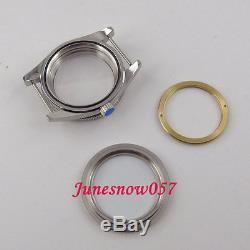 Fit ETA 2824 2836 movement 41mm black ceramic bezel sapphire glass watch case 72