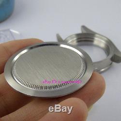 Fit ETA 2824 2836 movement 41mm red bezel sapphire glass 316L watch case +dial