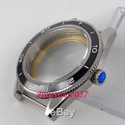 Fit ETA 2824 2836 movement 41mm sapphire glass 316L watch case +Dial+hands 130