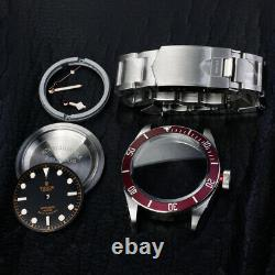 Fit eta 2824 st2130 movement watch parts case kit for black bay blue 40mm red