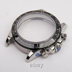 Fit eta 7750/ china dandong 7753 movement watch case parts for daytona 904l