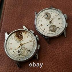 For Spares Lot of 2 Chronograph Suisse Watches Venus 170 Missing Parts